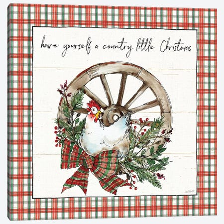 Holiday on the Farm V - Plaid Canvas Print #ATA15} by Anne Tavoletti Canvas Art