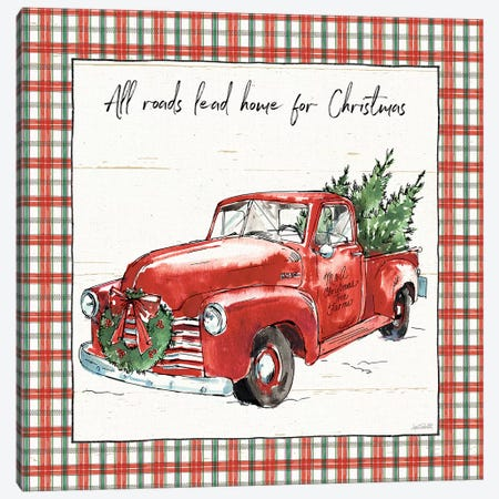 Holiday on the Farm VI - Plaid Canvas Print #ATA16} by Anne Tavoletti Canvas Artwork