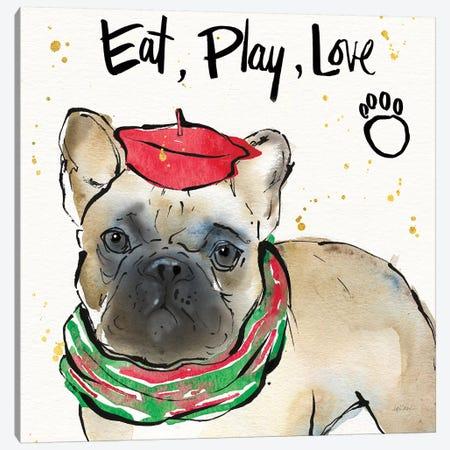 Strike a Paws VI Christmas Canvas Print #ATA176} by Anne Tavoletti Canvas Wall Art