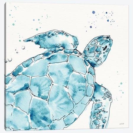 Deep Sea IX Teal Canvas Print #ATA191} by Anne Tavoletti Art Print