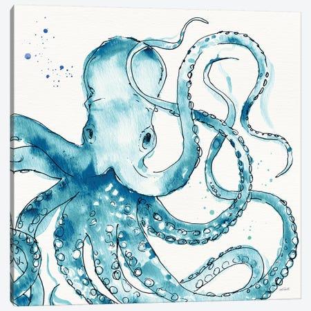 Deep Sea VIII Teal Canvas Print #ATA192} by Anne Tavoletti Canvas Art Print