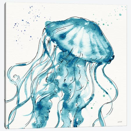 Deep Sea X Teal Canvas Print #ATA193} by Anne Tavoletti Art Print