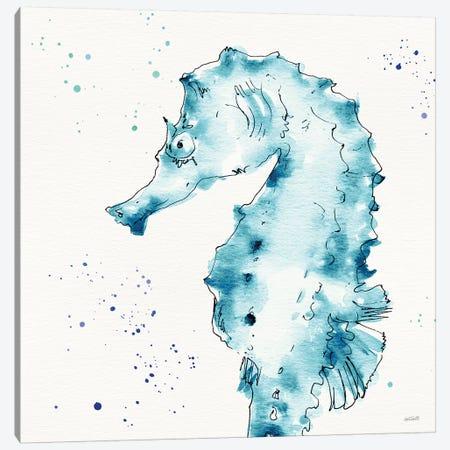 Deep Sea XI Teal Canvas Print #ATA194} by Anne Tavoletti Canvas Wall Art