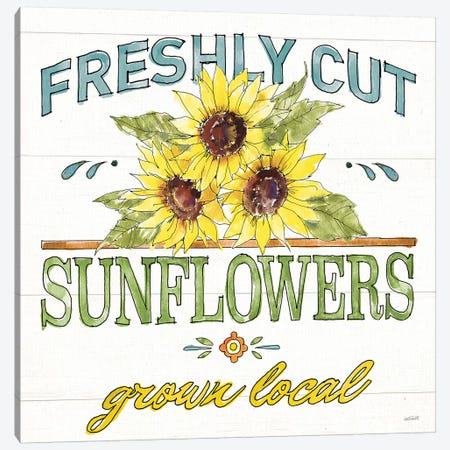 Sunflower Fields III Canvas Print #ATA197} by Anne Tavoletti Canvas Wall Art