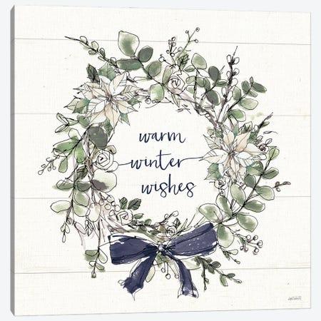 Modern Farmhouse VII Christmas Navy Bow Canvas Print #ATA210} by Anne Tavoletti Canvas Artwork