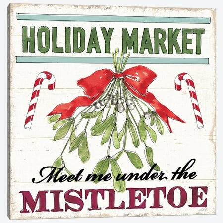 Holiday Signs VI Canvas Print #ATA214} by Anne Tavoletti Canvas Art Print