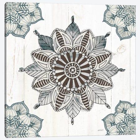 Mandala Morning VI In Blue and Gray Canvas Print #ATA2} by Anne Tavoletti Canvas Art Print