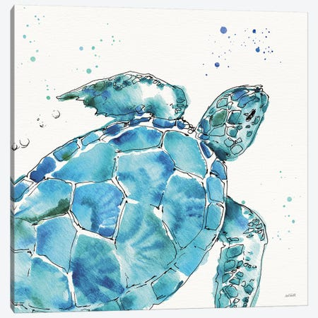 Deep Sea IX Canvas Print #ATA33} by Anne Tavoletti Art Print