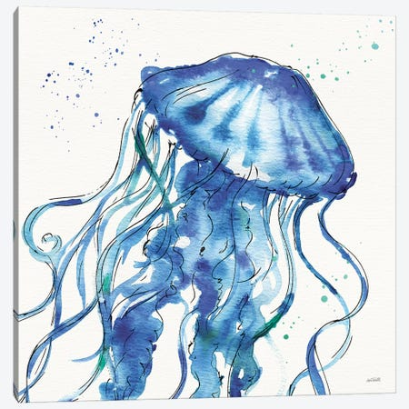 Deep Sea X Canvas Print #ATA36} by Anne Tavoletti Canvas Wall Art