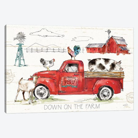 Down on the Farm II Canvas Print #ATA39} by Anne Tavoletti Art Print