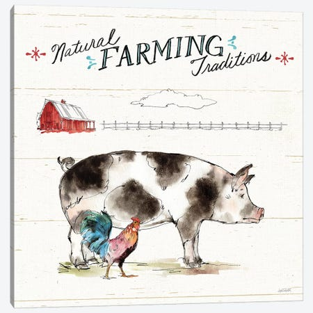 Down on the Farm III Canvas Print #ATA40} by Anne Tavoletti Canvas Wall Art