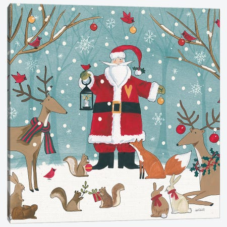 Woodland Christmas VI Canvas Print #ATA51} by Anne Tavoletti Canvas Art Print