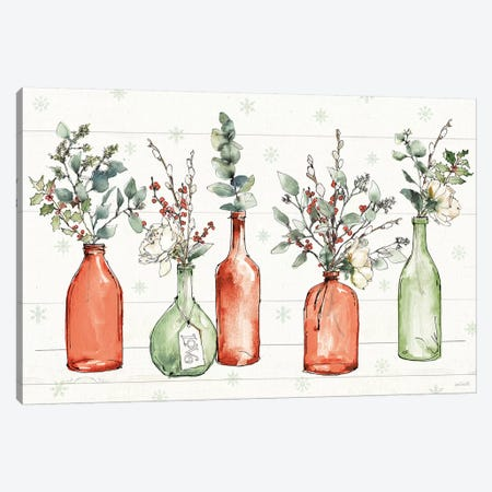 Modern Farmhouse I Christmas Canvas Print #ATA69} by Anne Tavoletti Canvas Art