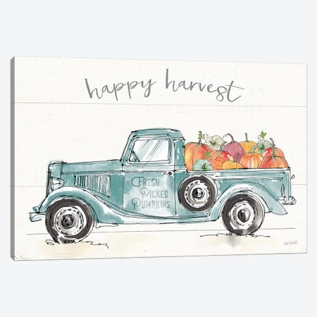 Modern Farmhouse VIII Blue Truck Canvas Print #ATA75} by Anne Tavoletti Canvas Wall Art