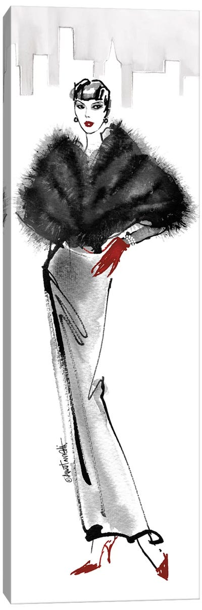 Fifties Fashion I - Red Gloves Canvas Art Print
