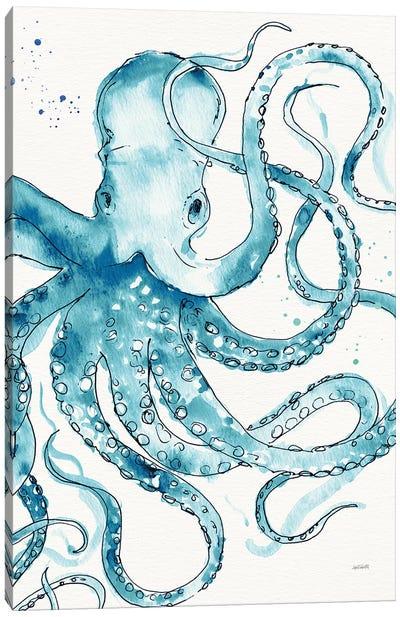 Deep Sea VIII Teal Canvas Art Print