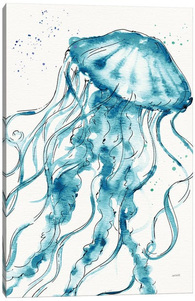 Deep Sea X Teal Canvas Art Print