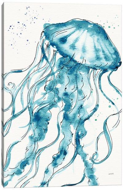 Deep Sea X Teal Canvas Art Print