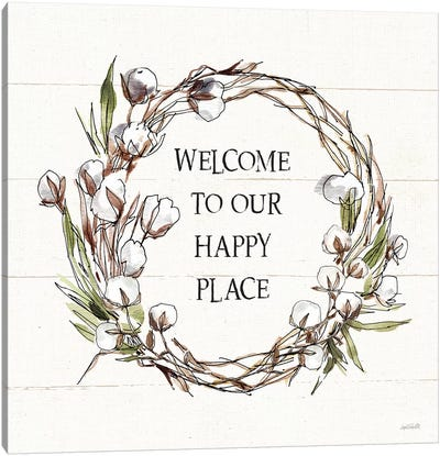 Country Life VII Welcome Canvas Art Print