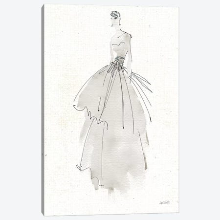La Fashion II Gray v2 Canvas Print #ATA89} by Anne Tavoletti Canvas Art
