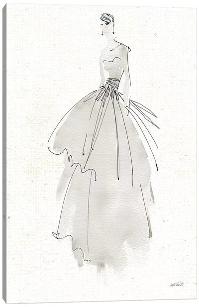La Fashion II Gray v2 Canvas Art Print