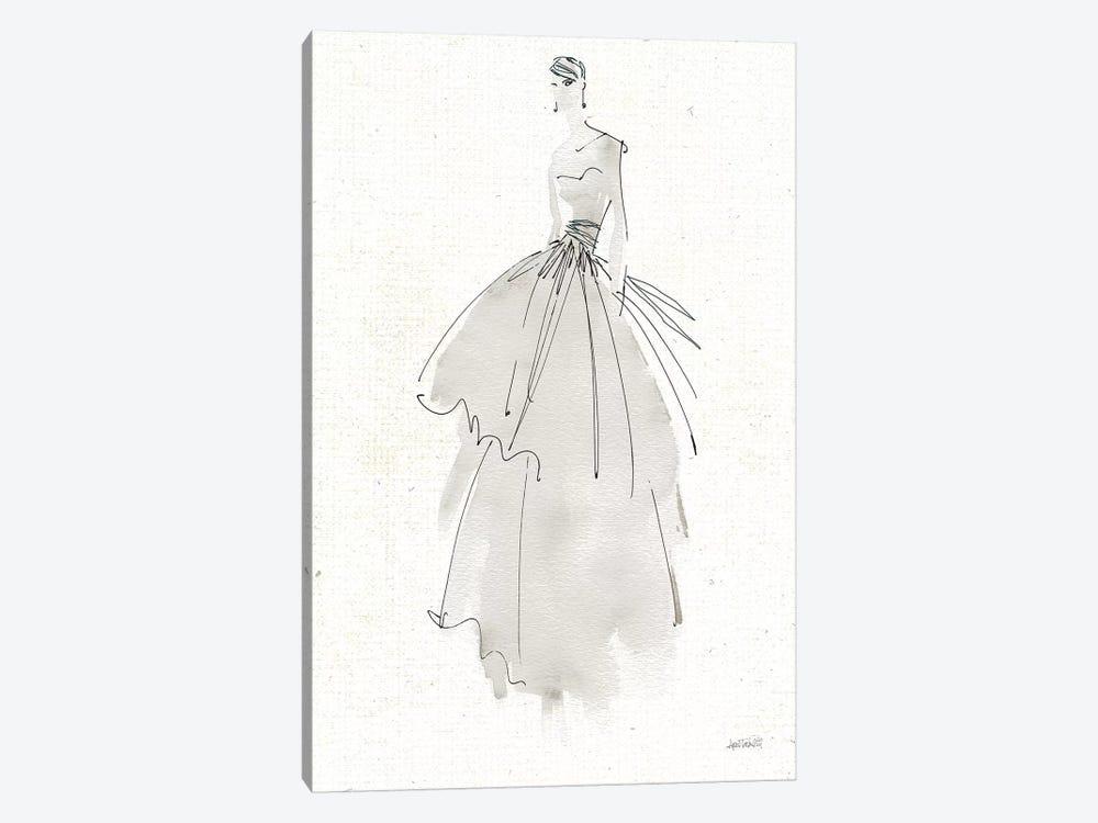 La Fashion II Gray v2 by Anne Tavoletti 1-piece Canvas Art