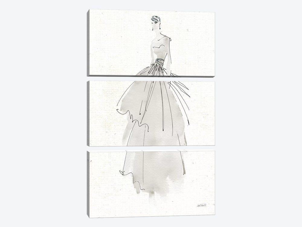 La Fashion II Gray v2 by Anne Tavoletti 3-piece Canvas Wall Art