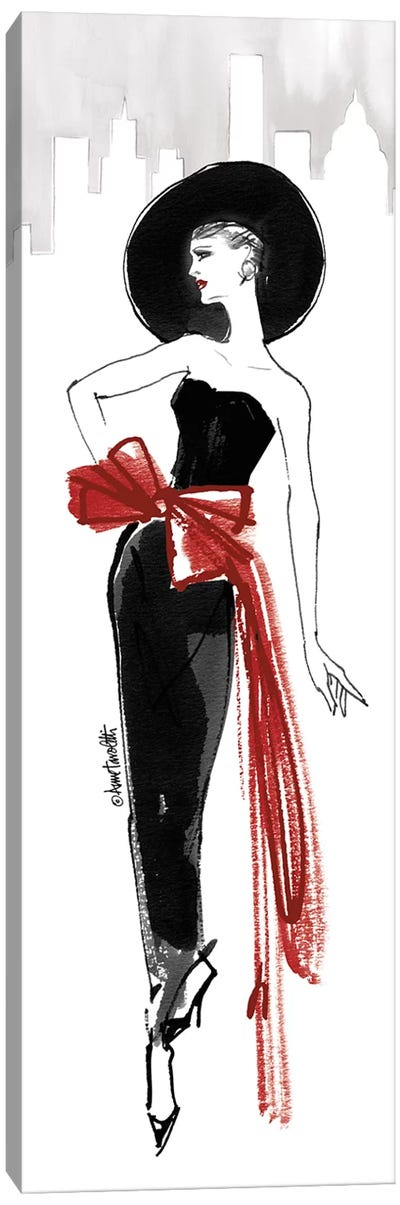 Fifties Fashion IV - Red Scarf Canvas Art Print