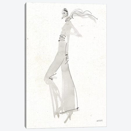 La Fashion III Gray v2 Canvas Print #ATA90} by Anne Tavoletti Canvas Print