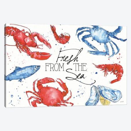 Seafood Shanty I Canvas Print #ATA94} by Anne Tavoletti Canvas Art