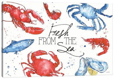 Seafood Shanty I Canvas Art Print