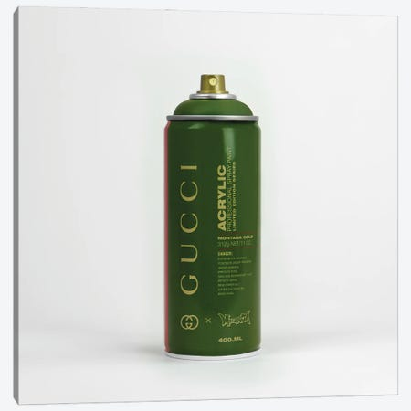 Brandalism Gucci Spray Paint Can Canvas Print #ATB13} by Antonio Brasko Canvas Art