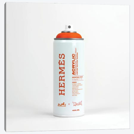 Brandalism Hermés Spray Paint Can Canvas Print #ATB14} by Antonio Brasko Art Print