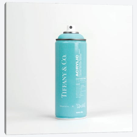 Brandalism Tiffany & Co Spray Paint Can Canvas Print #ATB17} by Antonio Brasko Canvas Art Print