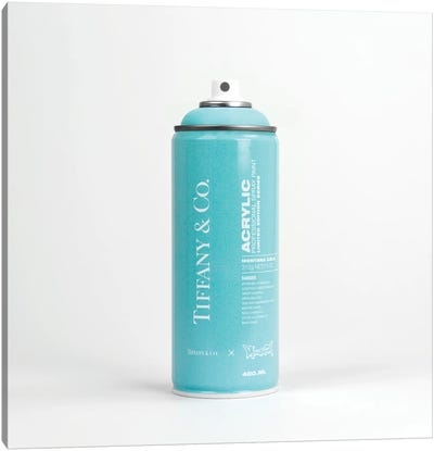 Brandalism Tiffany & Co Spray Paint Can Canvas Art Print