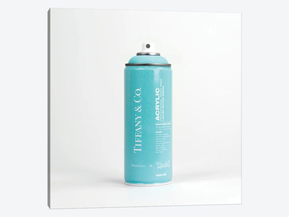 Brandalism Tiffany & Co Spray Paint Can by Antonio Brasko 1-piece Canvas Print