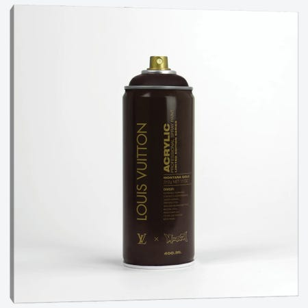 Brandalism Louis Vuitton Spray Paint Can Canvas Print #ATB19} by Antonio Brasko Canvas Artwork