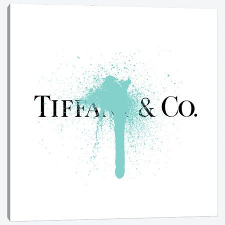 Tiffany & Co Luxury Paint Drip Canvas Print #ATB1} by Antonio Brasko Canvas Art