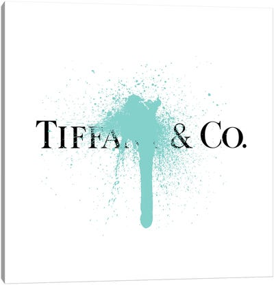 Tiffany & Co Luxury Paint Drip Canvas Art Print