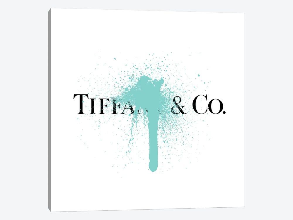 Tiffany & Co Luxury Paint Drip by Antonio Brasko 1-piece Canvas Wall Art