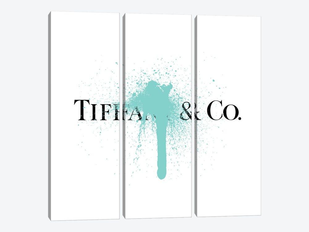 Tiffany & Co Luxury Paint Drip by Antonio Brasko 3-piece Canvas Art