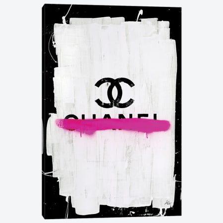 Chanel with Pink Overspray Canvas Print #ATB20} by Antonio Brasko Canvas Print