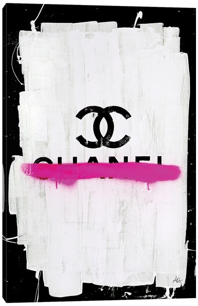 Chanel with Pink Overspray Canvas Art Print