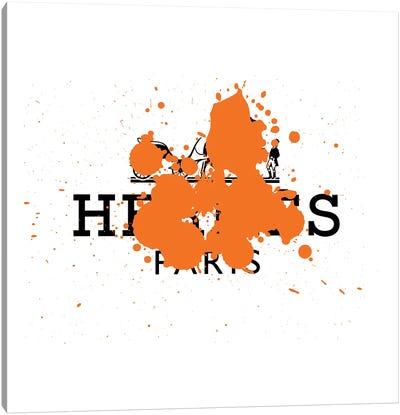 Hermés Luxury Paint Drip Canvas Art Print