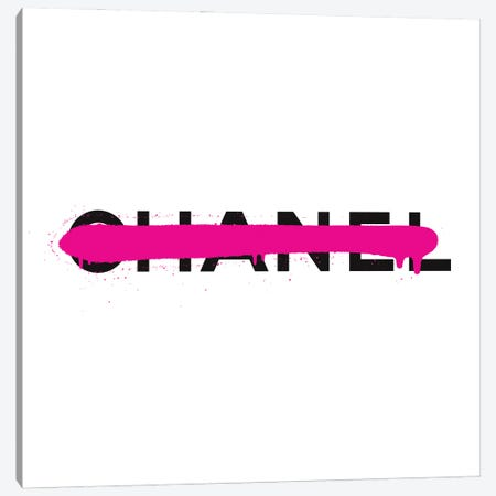 Chanel Luxury Paint Drip Canvas Print #ATB5} by Antonio Brasko Canvas Art Print