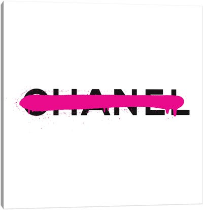 Chanel Luxury Paint Drip Canvas Art Print