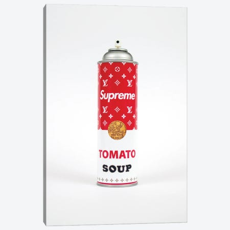 Supreme Louis Vuitton Soup Spray Paint Can Canvas Print #ATB7} by Antonio Brasko Canvas Print