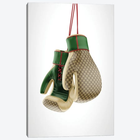 Gucci Boxing Gloves Canvas Print #ATB8} by Antonio Brasko Canvas Art