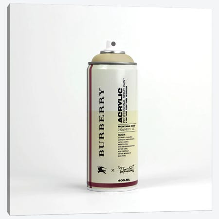 Brandalism: Burberry Spray Paint Can Canvas Print #ATB9} by Antonio Brasko Canvas Artwork