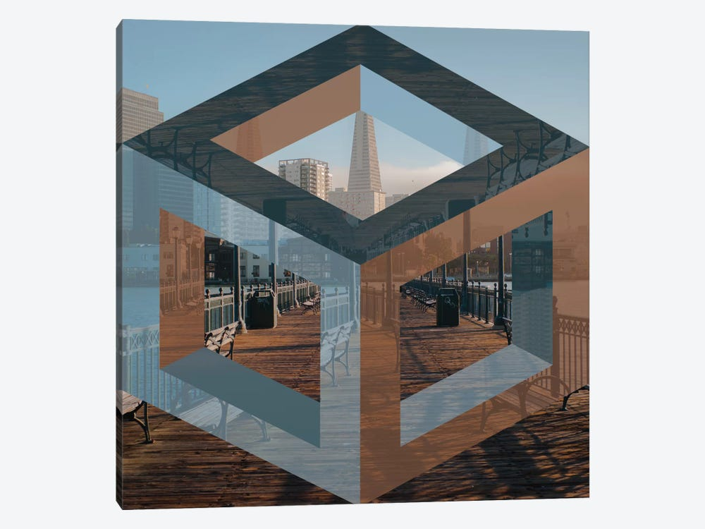 Cube Paradise by 5by5collective 1-piece Canvas Art Print